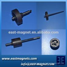 Gesinterter Ring-Ferrit-Magnet mit Mehrfach-Pole mit Rotor / 8-poligem und 16-poligem Gummi-Kunststoff-Magnet