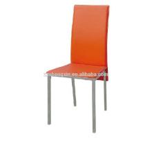 Chaise rouge luxueuse, dossier Chaise à manger PVC pour restaurant