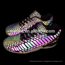 Dongguan Chaussures matériau réfléchissant pu cuir synthétique pour chaussures