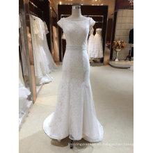 Cap manga de la sirena vestido de novia de la boda