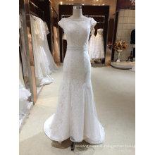 Cap Sleeve Mermaid Bridal Wedding Dress