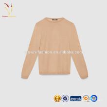 Suéter de lana de cuello redondo chico estilo básico suéter niños