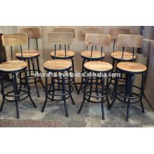Industrial Vintage Swivel Bar Hocker