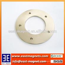 38sh Ring NdFeB Permanent Magnet mit fünf Senkung Löcher / benutzerdefinierte Ring Magnet mit Loch