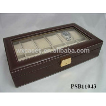 leather watch travel case wholesale for 12 watches with different color options
