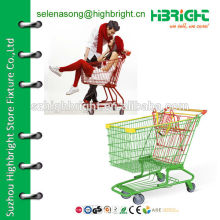 shopping trolley shopping cart with advertising handle
