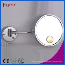 Espelho de vaidade redondo dobrável do único lado de Fyeer com luz do diodo emissor de luz