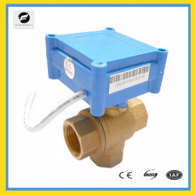 DC9V-24V 15mm 3 way motor control ball valve for electric control water treatment