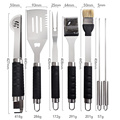 7PCs Soft-Touch-Griff Grill-Tool-Set