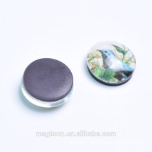 High selling beautiful flowers and birds glass fridge magnet