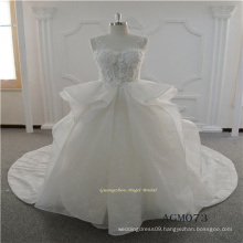 Latest Gown Ruffle Sexy Lace Wedding Dress