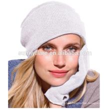 Venda Por Atacado de alta qualidade cashmere knit inverno beanie chapéus e luvas
