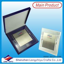 Placa de metal acrílico premia el trofeo del soporte de la placa con la caja de regalo