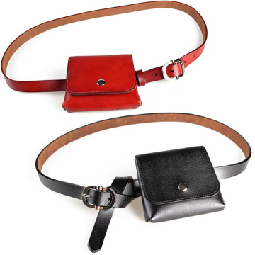 Cintura Minimalista Red Small Genuine Leather Fanny