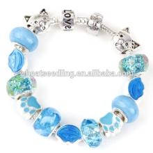 Cadeau de noel Bracelet en perles de verre en Murano DIY fait à la main