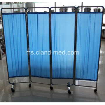 Keluli tahan karat Hospital Medical Ward Folding Screen