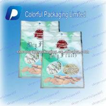 Embalagem da amêndoa de Califórnia / ziplock seco dos frutos Saco de empacotamento / sacos de plástico ziplock do produto comestível