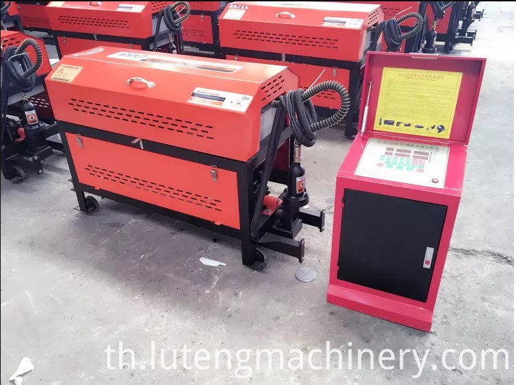 Steel round bar straightener and cutter machinery