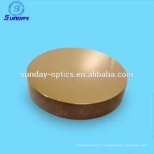 Le verre plat optique rond de revêtement de miroir de 1in de diamètre a augmenté le verre optique