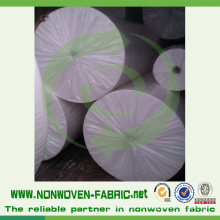 Weißes Vlies Spunbonded PP Material in Rolle