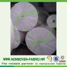 Material não tecido branco dos PP de Spunbonded da tela no rolo