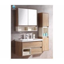 """32 """"Cabinet flottant de bain de vanité de salle de bains de double évier avec le miroir et l'étagère"""