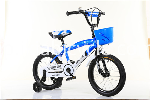 blue color kid bike
