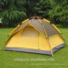 Barraca ao ar livre impermeável de dobramento portátil para caminhar a abóbada de escalada acampar durável para a pessoa 3-4