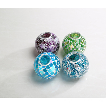 Colourful cracked glass shade ball shade