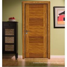 Interior Modern Style Zebrano Smoke Color Bed Room Flush Door, Engineered Veneered Smooth Flat Door S7-1010