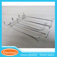 wholesale metal supermarket pegboard hanger for goods display