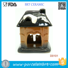 Pot House Shape Design Ceramic Oil Burner