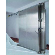 Porta deslizante manual / automática de aço inoxidável