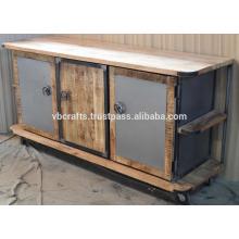 Industrial Urban Loft Sideboard Rough Mango Holz