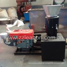 Granulador de aserrín de madera de la biomasa del motor diesel