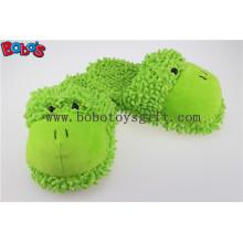 Não-Deslizamento Mulheres Sapato Plush Stuffed Soft Rã Animal Home Chinelos