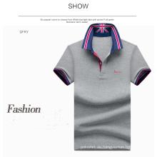 Bulk Großhandel Kleidung Stickerei 60% Baumwolle + 40% Polyester 180GSM Polo-Shirt
