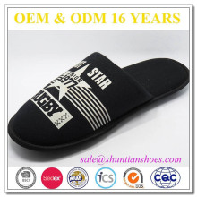 Fashion Style Printed Jersey Man Indoor Slipper