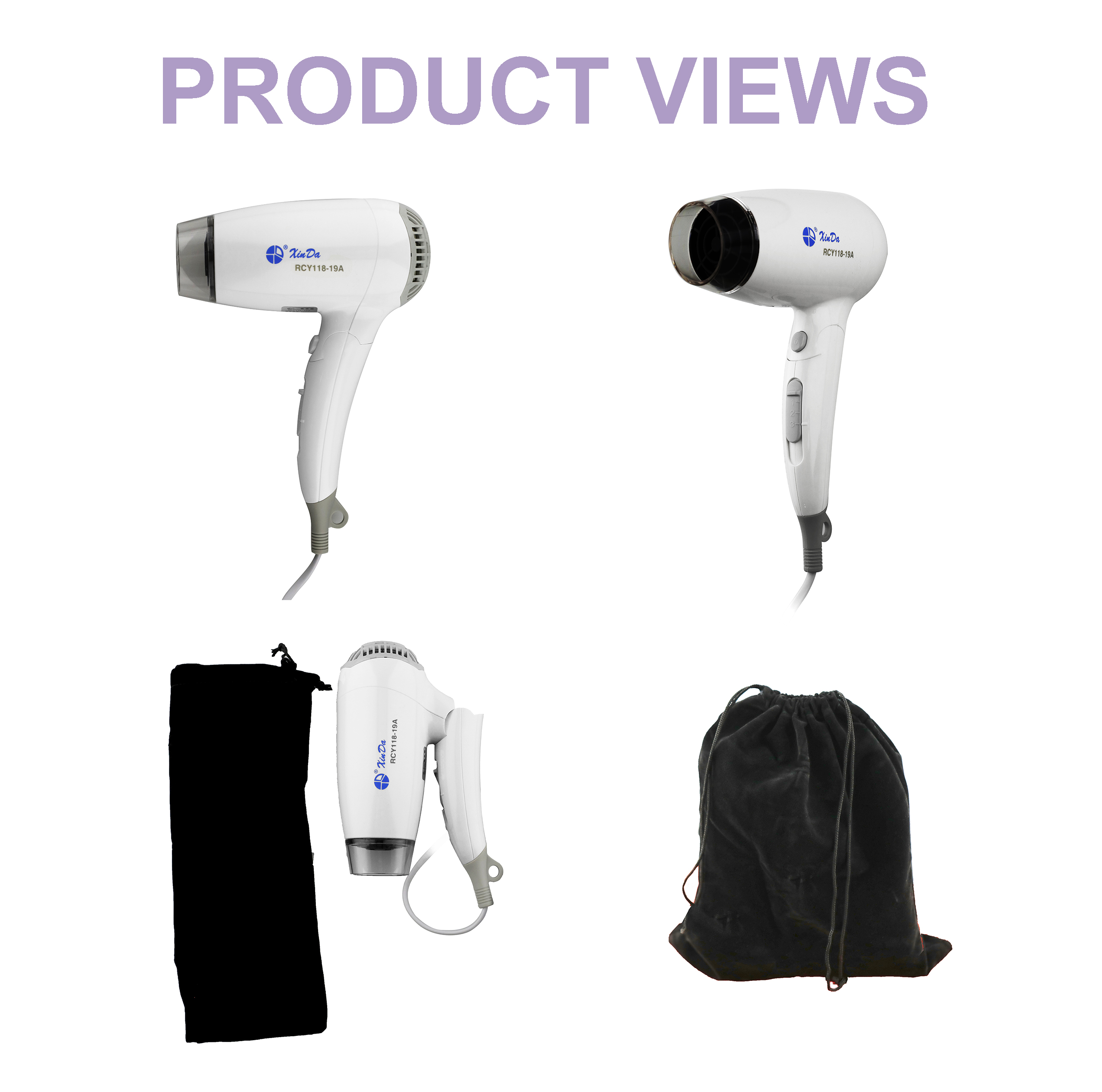 Hair dryer with foldable handle