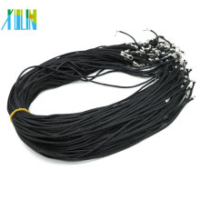 2.0mm Rat Tail Satin Black Cord Necklace with Lobster clasps and Extenders 19Inch Adjustable DIY necklace , 100pcs/pack, ZYN0015