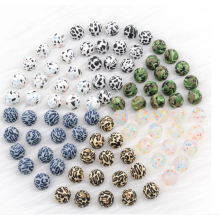 BPA Free Leopard Baby Silicone Beads