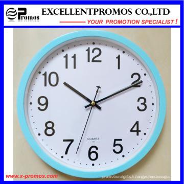 Horloge murale en plastique ronde à 12 pouces en arc bleu (EP-101)