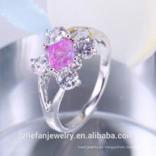 Joyería de los últimos productos de Tailandia 2018 anillo del ópalo para la boda