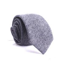Entwerfen Sie Ihre eigenen Großhandel Seidenmischung Fischgräten Tweed Ties