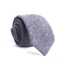 Projetar seu próprio atacado de lã de seda mistura Herringbone Tweed Ties