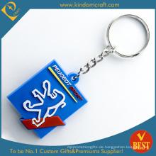 Hohe Qualität Kundenspezifische Werbe Günstige 2 D Branded PVC Schlüsselanhänger Serie Produkt