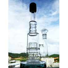 New Design 17 Inch Height Tire Perc Borosilicate Glass Water Pipe