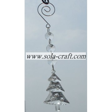 Premium Crystal Prisms with Clear Christmas Tree Acrylic Beads for Chandelier