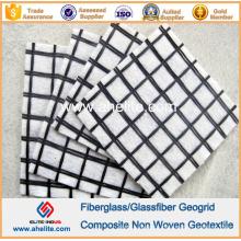 Geogrelha de fibra de vidro Geogrelha de poliéster PP de material não-tecido Geotextil