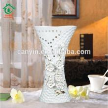 2015 оптовая цветок большой кость Китай декоративные вазы с золотом